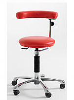 Dental assistant stool with adjustable arm